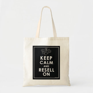 Keep Calm And Resell On Canvas Bags