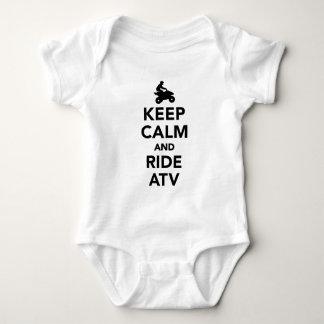 Keep calm and ride ATV Baby Bodysuit