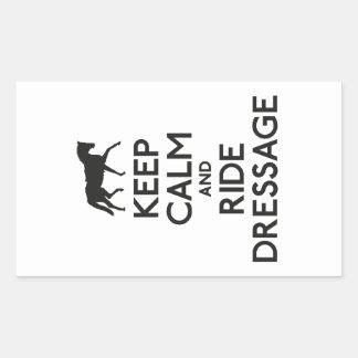 Keep calm and ride dressage sticker