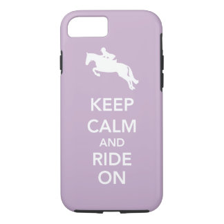 Keep Calm and Ride On Hunter Jumper Horse Custom iPhone 8/7 Case