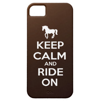 Keep Calm and Ride On iPhone 5 Case