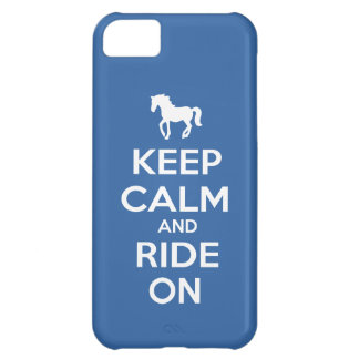 Keep Calm and Ride On iPhone 5C Case