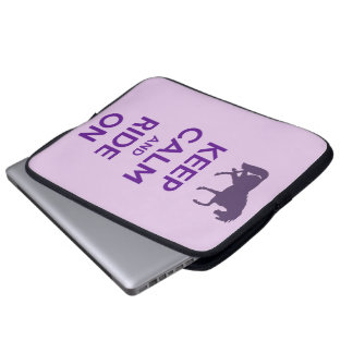 Keep Calm and Ride On Laptop Case Sleeve Computer Sleeve