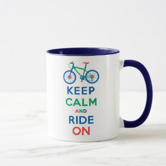 Keep Calm and Ride On mountain bike Mug