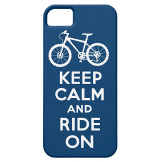 Keep Calm and Ride On navy iPhone 5 iPhone 5 Covers