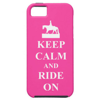 Keep calm and ride on, pink iPhone 5 cases