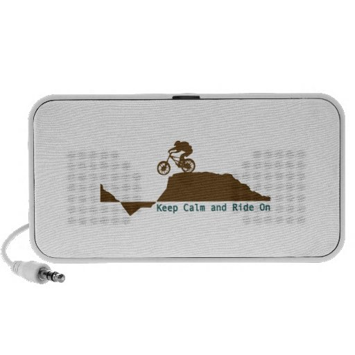 Keep Calm And Ride On iPod Speaker