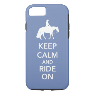 Keep Calm and Ride On Western Pleasure Horse Custo iPhone 8/7 Case