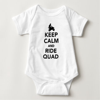 Keep calm and ride Quad Baby Bodysuit