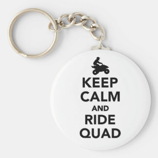 Keep calm and ride Quad Basic Round Button Keychain