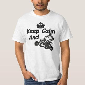 Keep Calm And Ride - Quads Tee Shirt