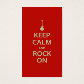 Keep Calm and Rock On! Business Card