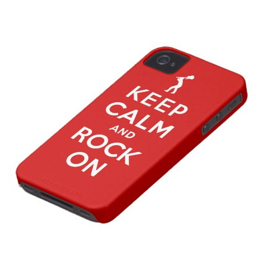 Keep calm and rock on blackberry case