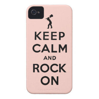 Keep calm and rock on Case-Mate iPhone 4 cases