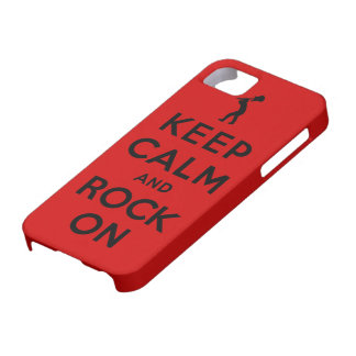 Keep calm and rock on iPhone 5 cover