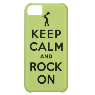 Keep calm and rock on iPhone 5C covers