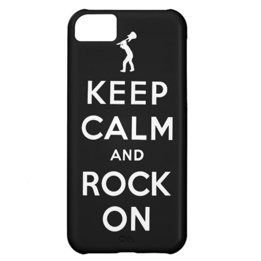 Keep calm and rock on case for iPhone 5C