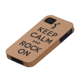 Keep calm and rock on Case-Mate iPhone 4 covers