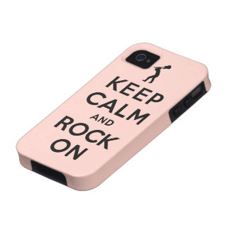 Keep calm and rock on iPhone 4/4S cover