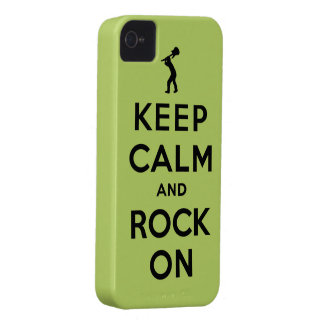 Keep calm and rock on iPhone 4 covers