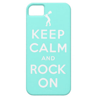 Keep calm and rock on iPhone 5 case