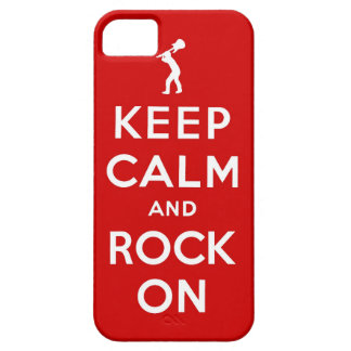 Keep calm and rock on iPhone 5 cases