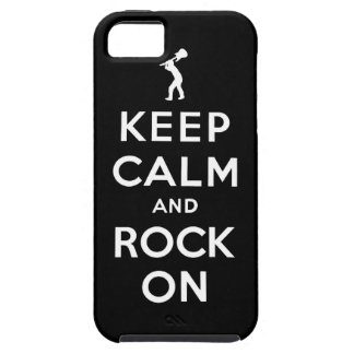 Keep calm and rock on iPhone 5 covers