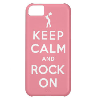 Keep calm and rock on iPhone 5C case