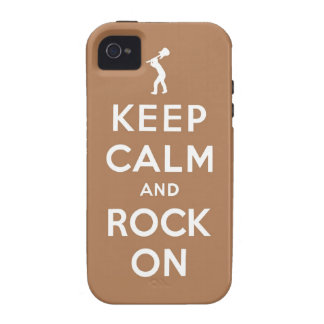 Keep calm and rock on vibe iPhone 4 cover
