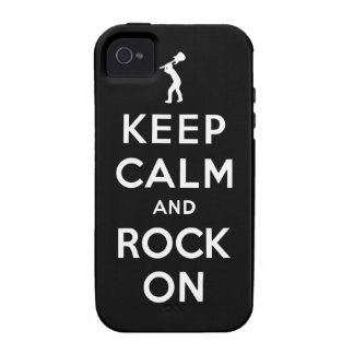Keep calm and rock on vibe iPhone 4 covers