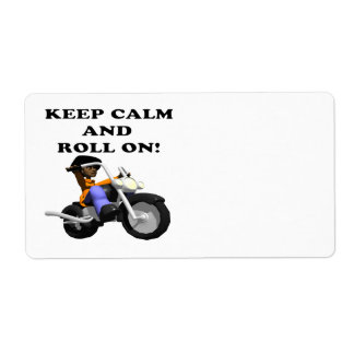 Keep Calm And Roll On Custom Shipping Label