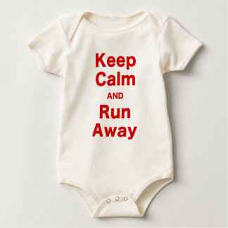 Keep Calm and Run Away Baby Bodysuit