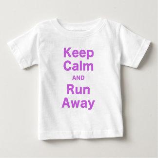 Keep Calm and Run Away T Shirts