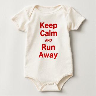 Keep Calm and Run Away Bodysuit