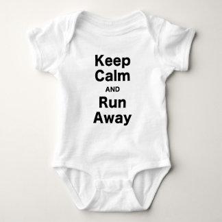 Keep Calm and Run Away Tee Shirt