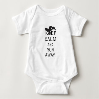 Keep Calm and Run Away - Zombie Baby Bodysuit