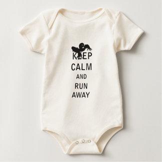 Keep Calm and Run Away - Zombie Baby Bodysuit