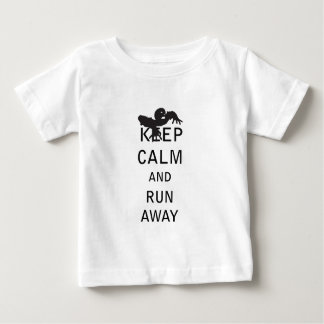 Keep Calm and Run Away - Zombie Baby T-Shirt