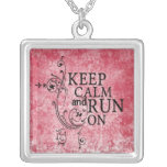 Keep Calm and Run On by Vetro Jewellery Pendant
