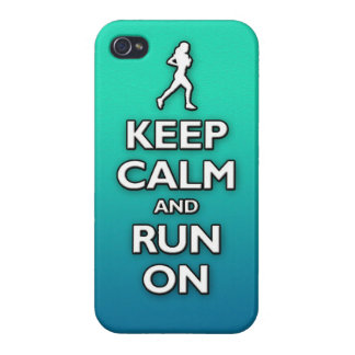 KEEP calm and run on Cover For iPhone 4