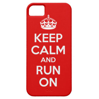 Keep Calm and Run On iPhone 5 Case Cover