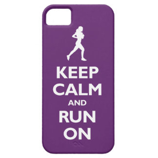 Keep Calm and Run On (plum) iPhone 5 Cases