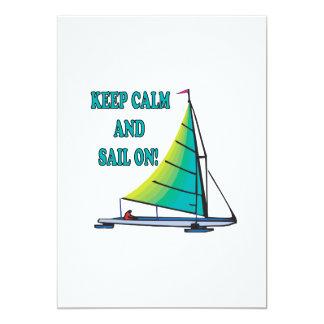 "Keep Calm And Sail On 5"" X 7"" Invitation Card"