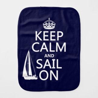 Keep Calm and Sail On - all colors Burp Cloth