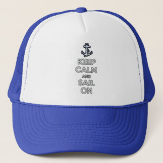 keep calm and sail on hat