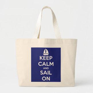 Keep Calm and Sail On Jumbo Tote Bag