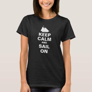 Keep Calm and Sail on Nautical t-shirt
