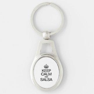 KEEP CALM AND SALSA KEYCHAIN