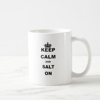 KEEP CALM AND SALT ON.png Coffee Mug