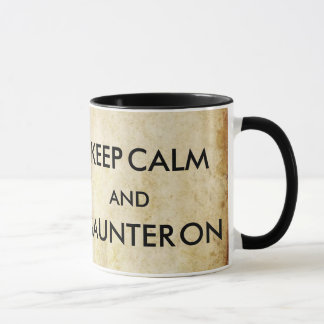 Keep Calm and Saunter On Thoreau Mug - style 2